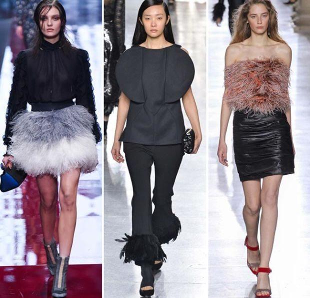 peří dámské trendy oblečení 2016