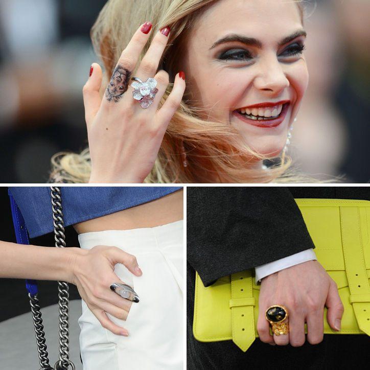 Něžný prsten v kombinaci s tetováním aneb eklektické trendy šperky