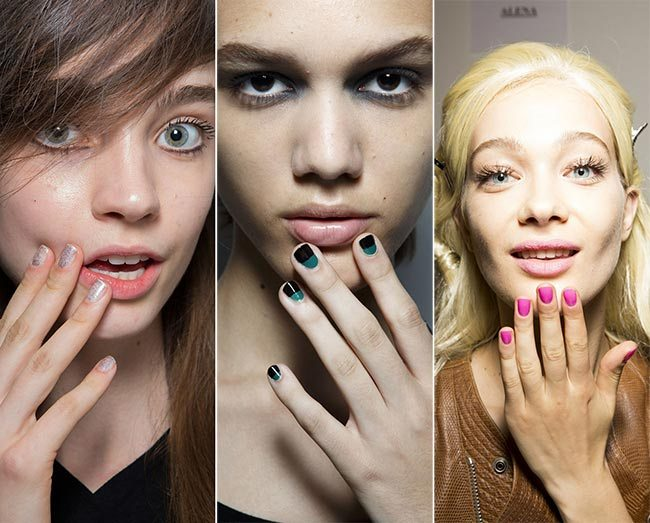 Trendy nehty jaro léto 2015: Orámované oválné nehty