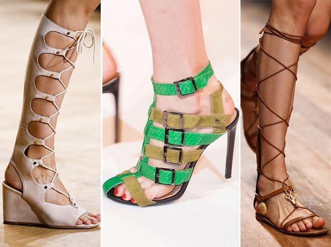 Obuv v sezóně jaro/léto 2015 gladiátorské boty