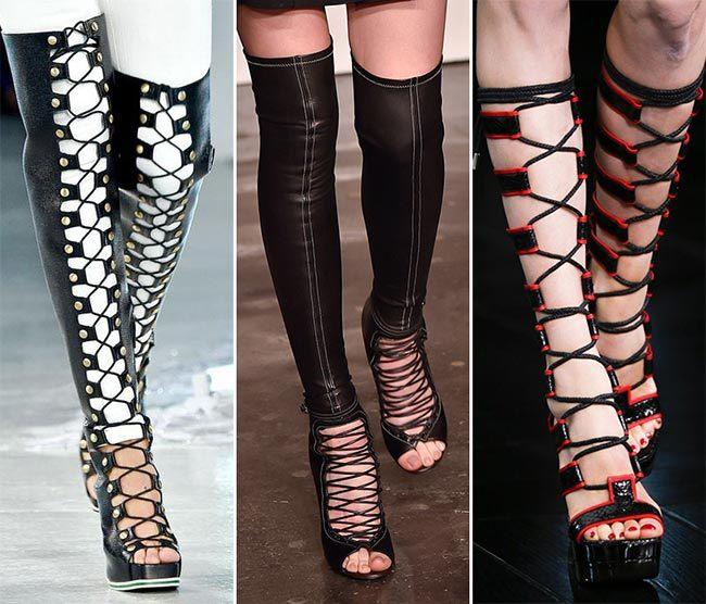 obuv na jaro/léto 2015 se šněrováním