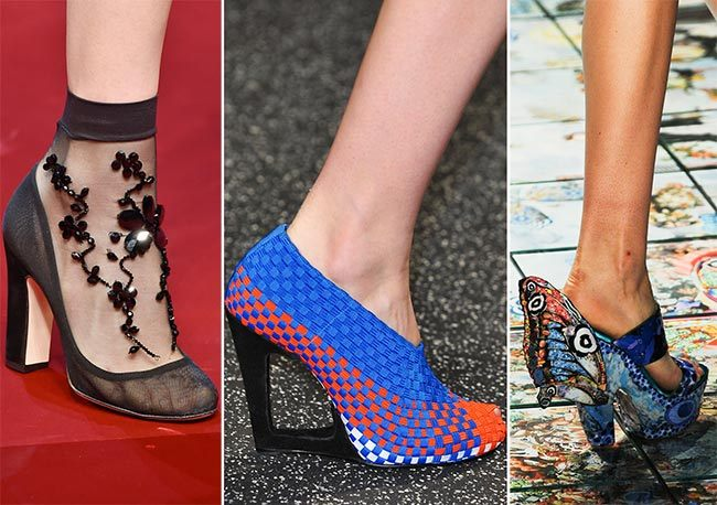 Trendy boty na jaro léto 2015 - propracované vzory