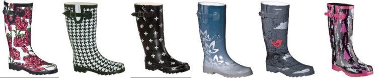 Trendy boty do deště, holínky