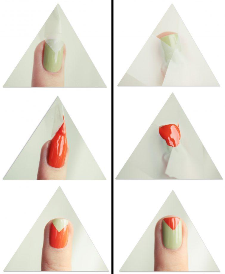 návod nehty manikúra dvoubarevná