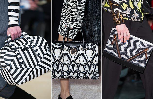 černobílé kabelky