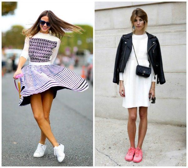 šaty a tenisky