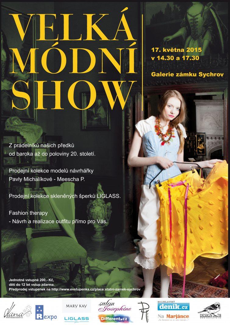Velká módní show na zámku Sychrov