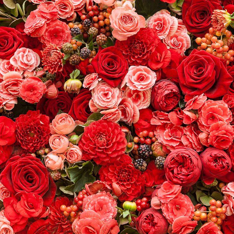 svatební květiny umělé dekorace