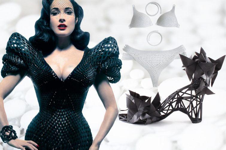 První šaty ve formě 3D představila Dita Von Teese