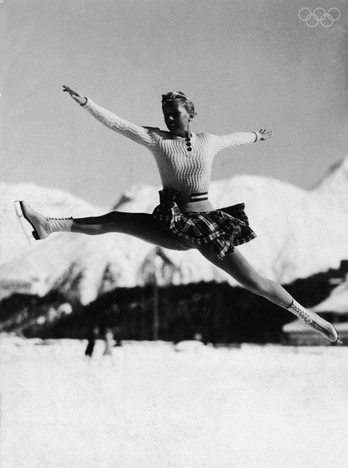 Bruslařka ze zimních olympijských her z roku 1936
