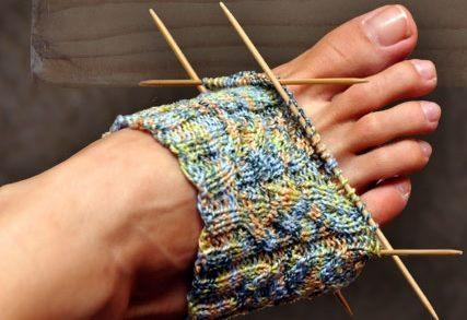 Ručně pletené ponožky