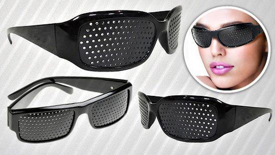Děrované brýle