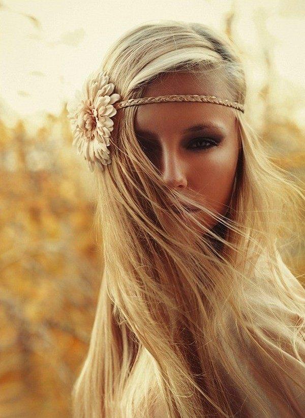 Hippie copánková čelenka s květinou