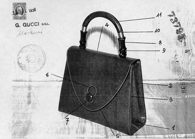 Historická podoba dámské kabelky GUCCI