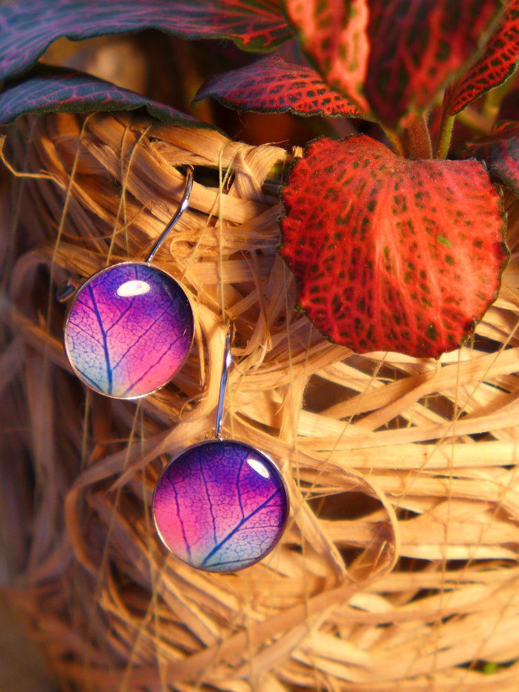Podzimní motiv v náušnicích - barevné listí