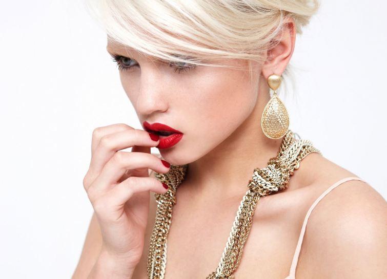Zlaté módní doplňky