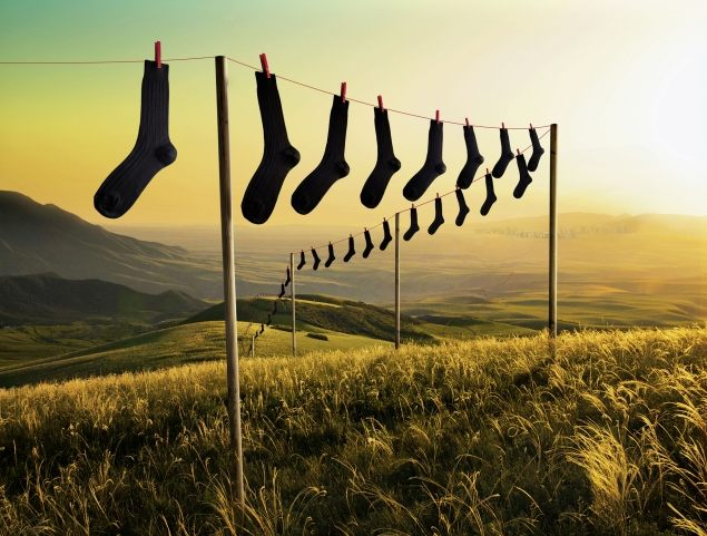 Ponožky jsou k dostání všude