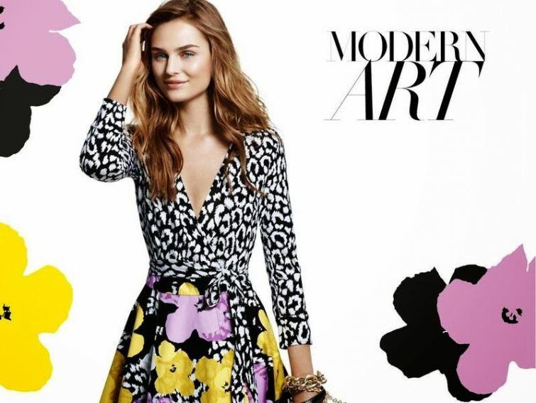 Květované šaty Diane Von Furstenburg