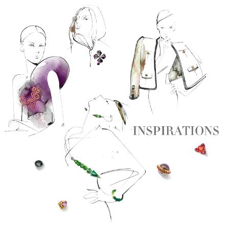 Ilustrace ke kolekci šperků