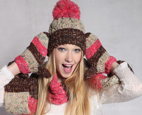Barevná čepice na zimu