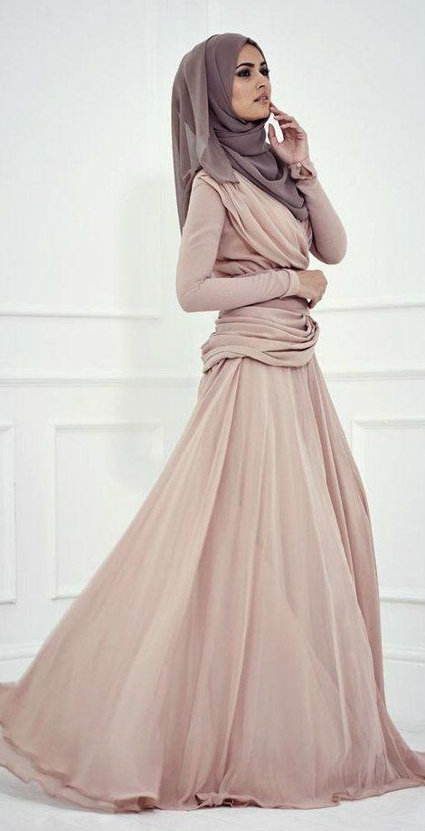Muslimka šaty orientální móda