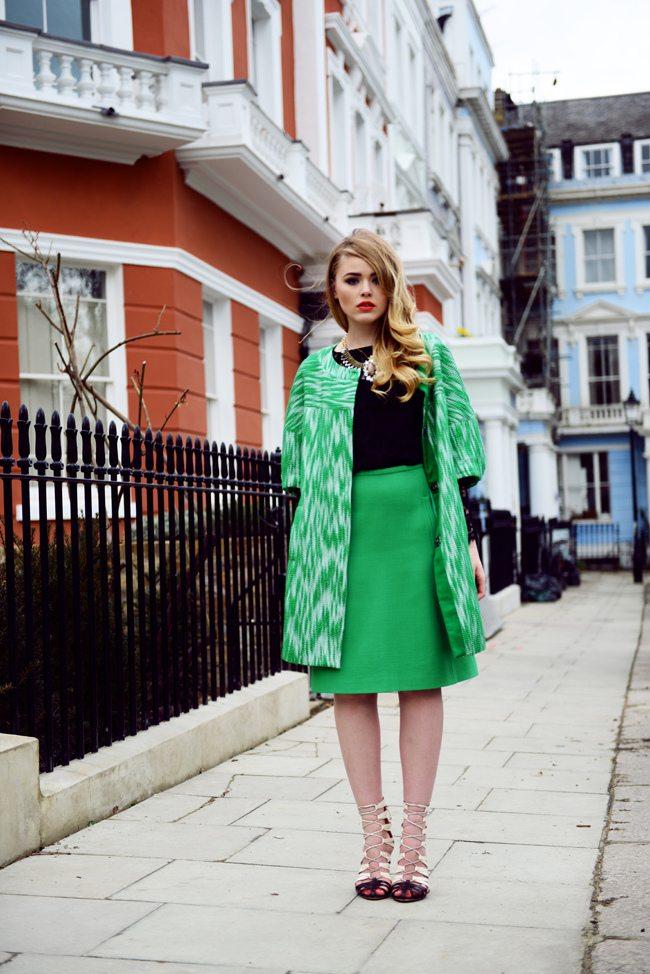 outfity v barvě roku greenery