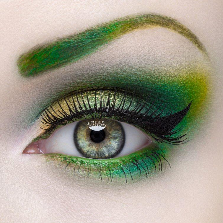 zelené oční stíny 2017