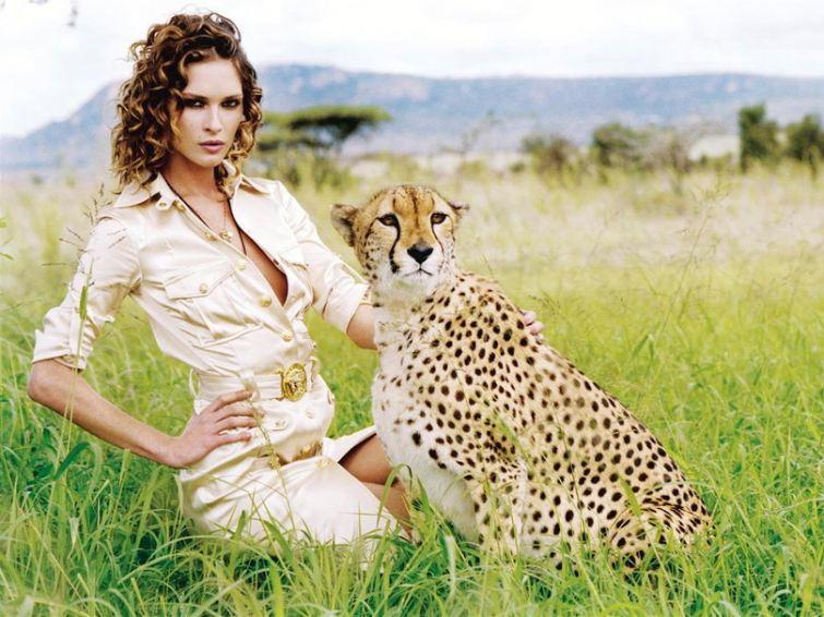 gepardí vzor dámské oblečení