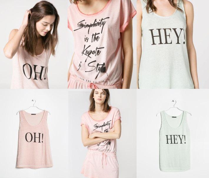 Mango nápisy dámské oblečení