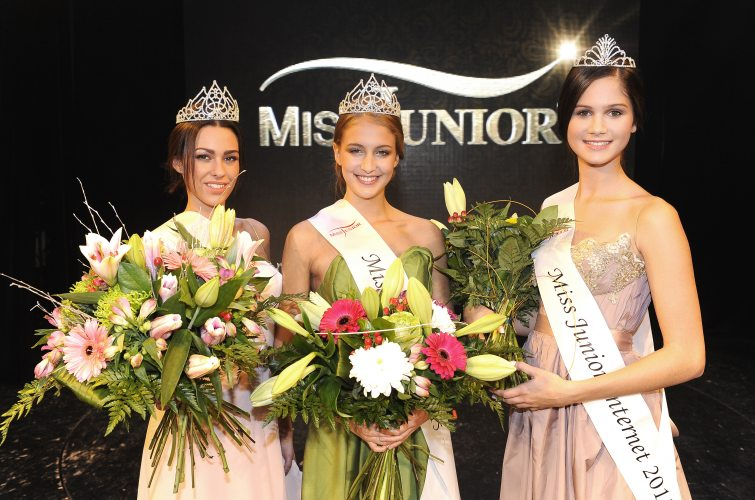 Miss Junior SR Michaela Müllerová, Miss Junior ČR Nikol Uhlířová a Miss Junior Internet Kateřina Kučerová