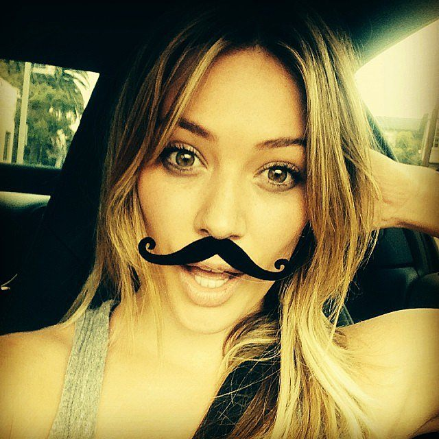 Hilary Duff Movember Selfie