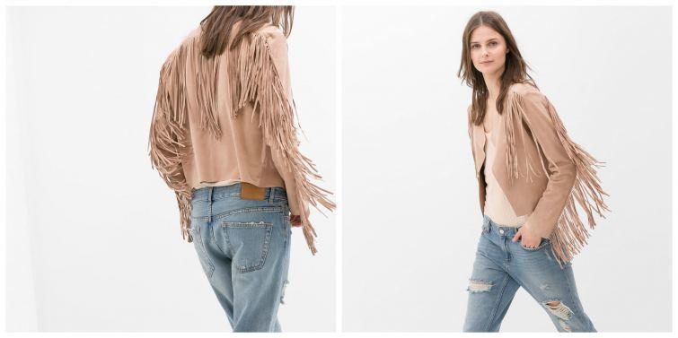 Zara kožená bunda