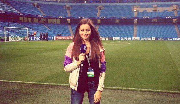 Tereza Chlebovská reportérka Liga Mistrů