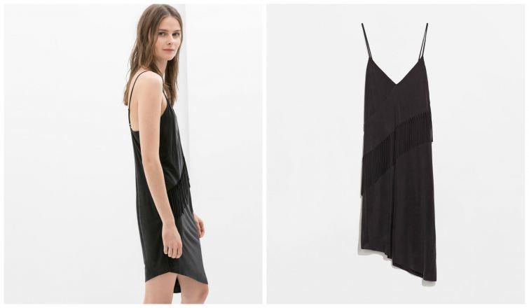 černé šaty s trásněmi