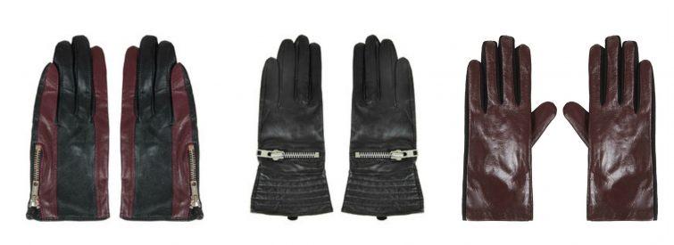 Kožené rukavice Topshop