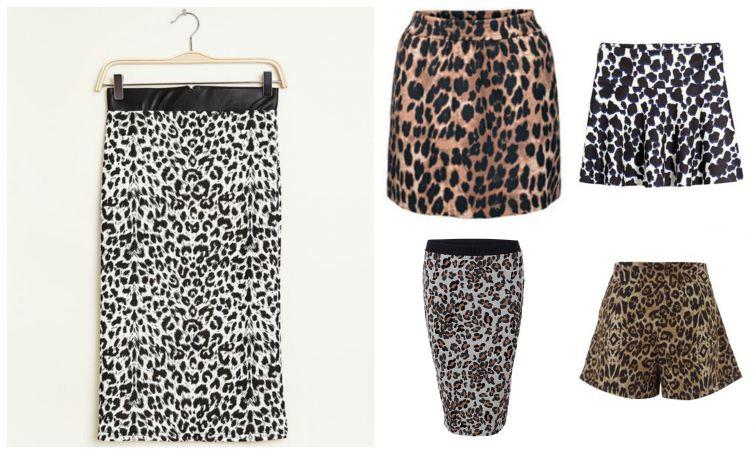 sukne kočičí vzor leopard