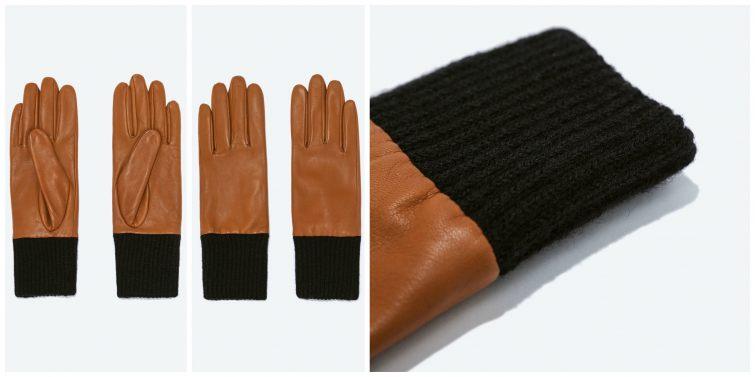 Kombinované rukavice Zara