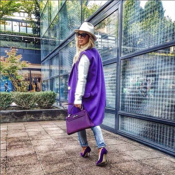 fialová vesta dámská