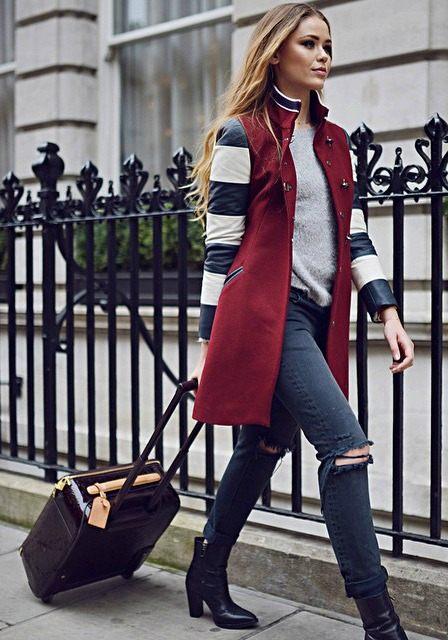 Kristina Bazan zimní outfit