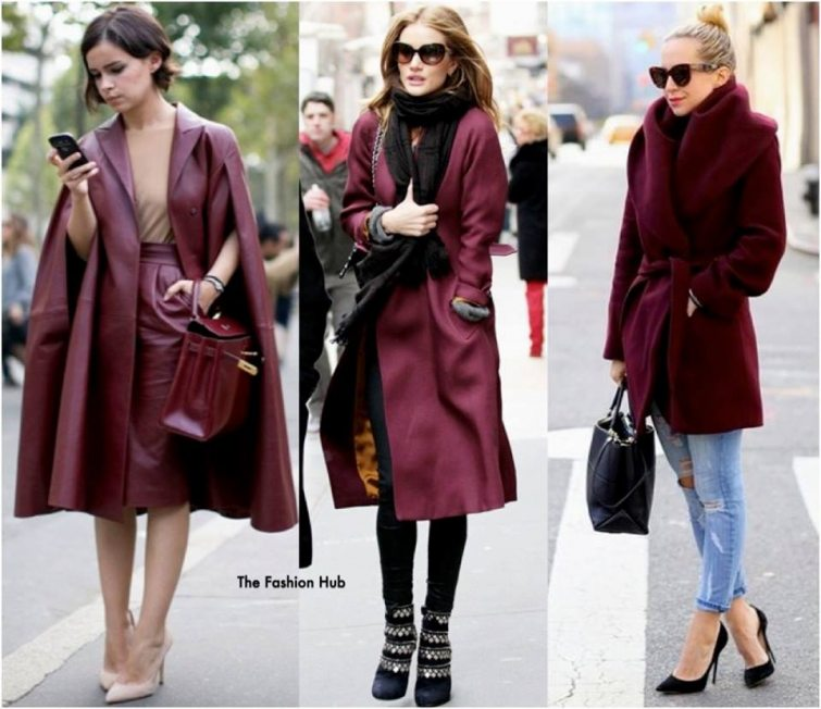 vínová barva plášť nošení