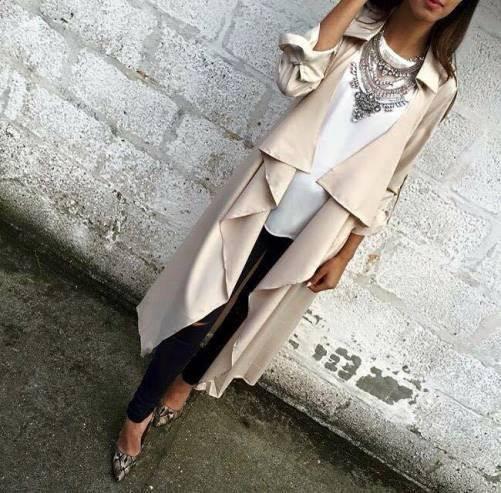 podzimní kabát dámský