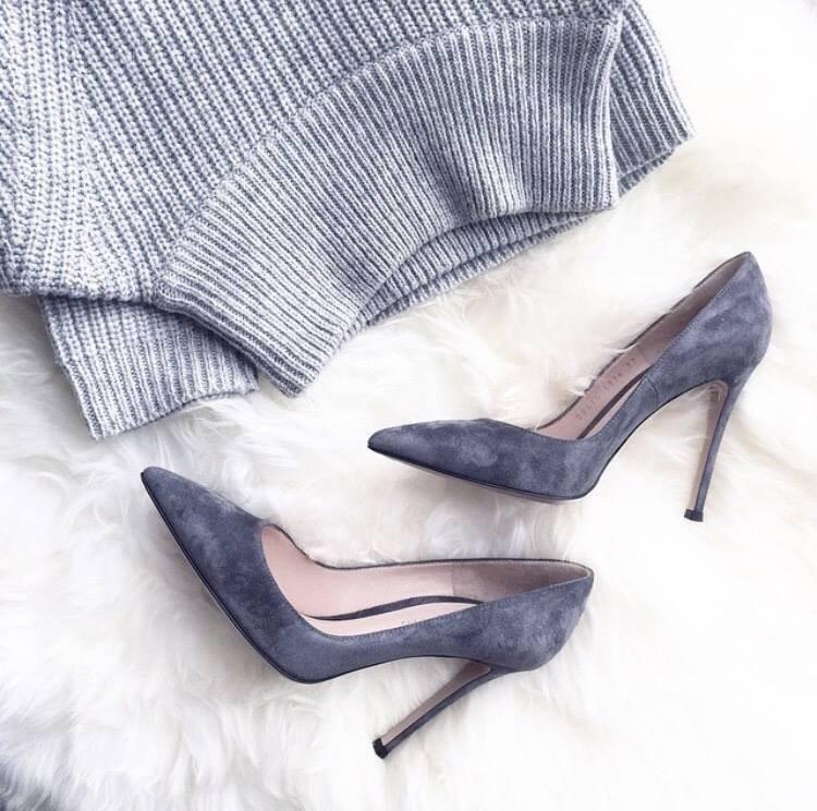 šedé boty
