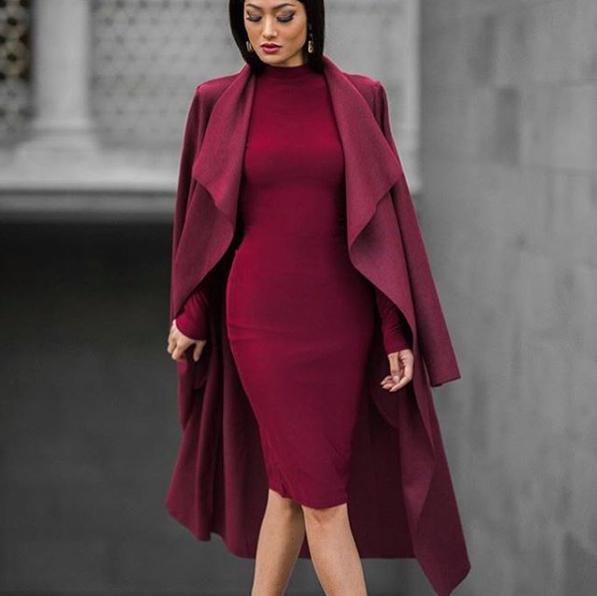 vínová barva módní rady