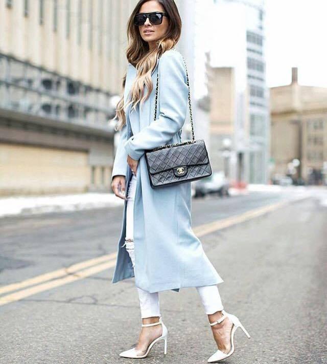 pastelový kabát