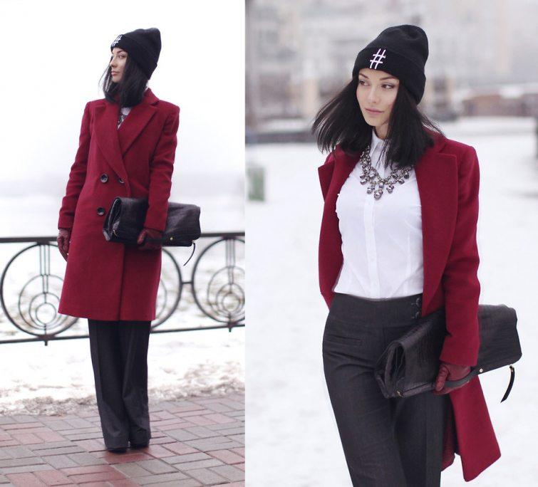 vínový kabát móda rady