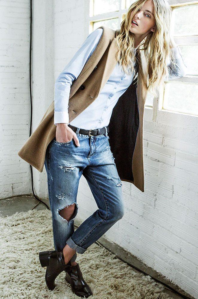 dámské džínsy s dírami
