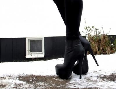 boty na podpatku na zimu