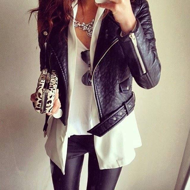 koženková bunda nevypasovaná