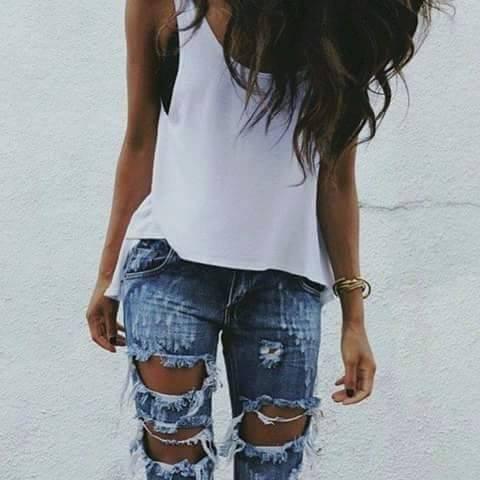 děravé džínsy dámské