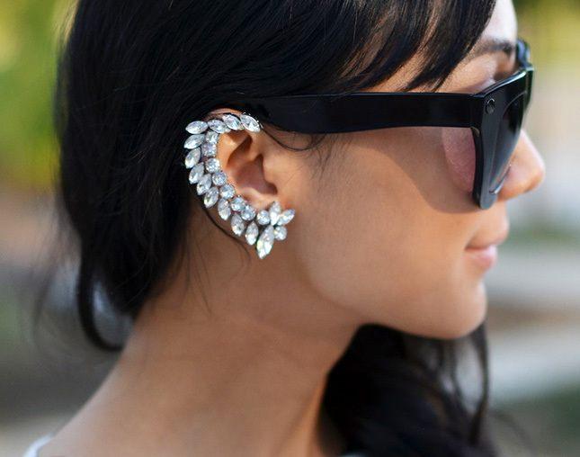 náušnice na jedno ucho